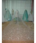 2 Tier Ivory Cathedral Embroider Wedding Bridal Veil v65i - $59.99