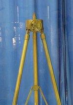 1940 Hollywood Vintage Industrial Brass Designer Spotlight Tripod Floor Lamp Sta - $137.61