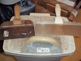 "3 TROWELS MARSHALLTOWN BLUE STEEL WALBOARD TAPING KNIFE IVY CLASSIC 1/4""... - $17.81"