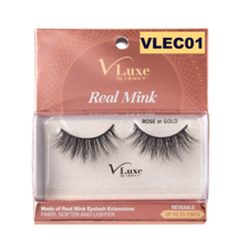 I ENVY BY KISS EYELASHES V-LUXE REAL MINK ROSE OR GOLD VLEC01 - $8.50