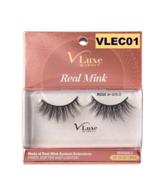 I ENVY BY KISS EYELASHES V-LUXE REAL MINK ROSE OR GOLD VLEC01 - $8.50