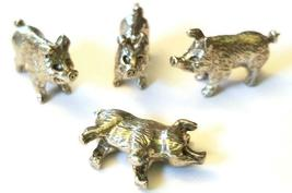 PIG FIGURINE CAST WITH FINE PEWTER - Approx. 1/2 inches tall  (T153) image 3