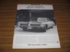 1966 Print Ad The 1967 Pontiac Catalina Company Car - $11.04