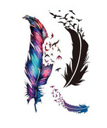 Waterproof Sl Fresh Goose Feather Color Temporary tattoos stickers DIY Art - $0.99+
