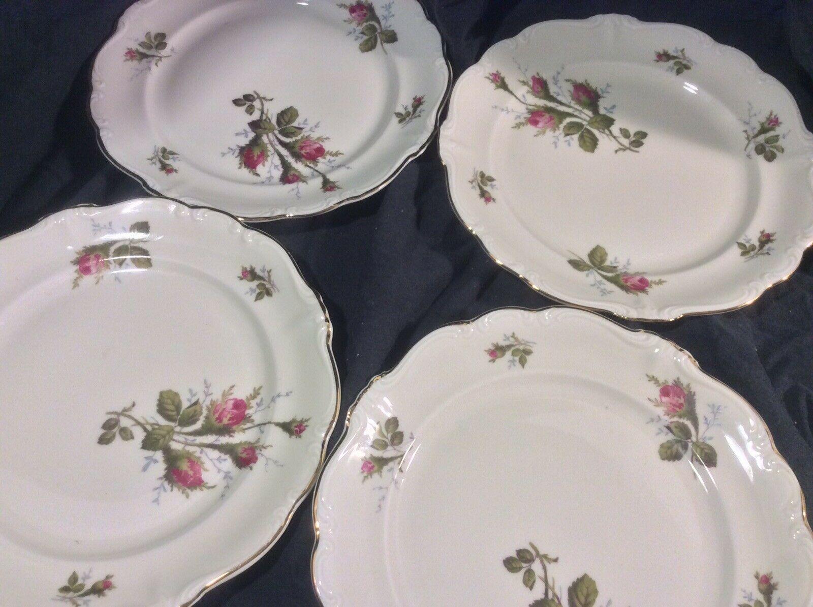 Rosenthal Pompadour Moss Rose - Salad Plates - Set Of 4 - $24.99