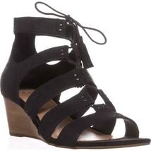 UGG Australia Yasmin Snake Wedge Gladiator Sandals, Black - $115.33