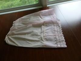 pink half slip, women's slip, eyelet lace slip, Sz Small - $27.10