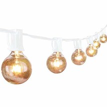 50Ft Outdoor Patio String Lights with 50 Clear Globe G40 Bulbs,UL Certif... - $35.02