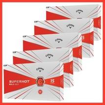 3 Boxes - Callaway Golf SuperHot Bold Matte Red Golf Balls 45 Balls Tota... - $98.99