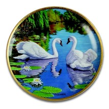 W.S George Fine China: The Swan [Bradford Exchange] Collector Plate - $48.75
