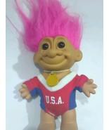 "OLYMPICS 5"" Russ Troll Doll USA GOLD MEDAL OLYMPIAN - $12.99"