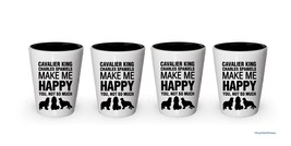 Cavalier King Charles Spaniels Make me Happy Shot glass (4) - $24.45