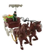 Vintage UCGC Cast Iron Vegetable And Fruit Wagon Umbrella Stored In Orig... - $50.00