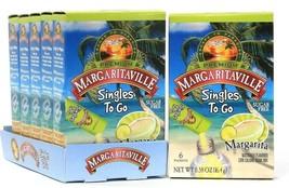 6 Boxes Premium Margaritaville 0.58 Oz Margarita Sugar Free 6 Packets To Go - $19.99