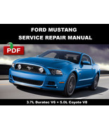 FORD MUSTANG 2013 2014 OFFICIAL SERVICE REPAIR WORKSHOP MANUAL - $14.95