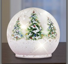 Large Christmas Lighted Glass Ball With Xmas Trees (col) N23 - $178.19