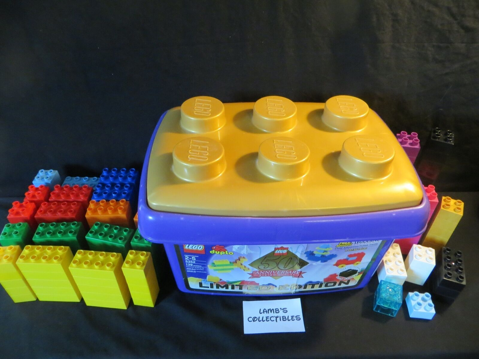 Primary image for Duplo Limited Edition 50th Anniversary storage container with 144 bricks custom