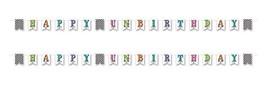 """Beistle 54767, 2 Piece Happy Un-Birthday Pennant Banner, 6"""" x 12' Stream... - $11.77"""