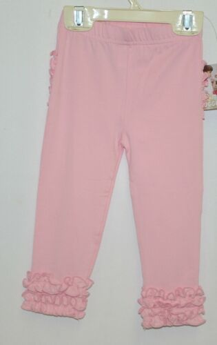 Ruffle Butts SPKPI12 Everyday Pink Ruffles Pants Leggings 12 to 24 Months