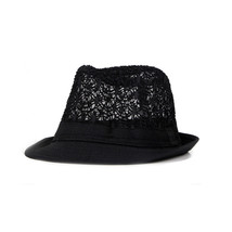 1Pcs Fashion Women Fedoras Top Jazz Hat Breathable Sun Shade Hat Female ... - $9.27