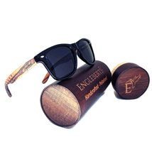Zebrawood Sunglasses, Stars and Bars With Wooden Case, Polarized, Handcr... - $39.99