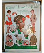 Paper Dolls Adventures of Polly Peter Perkins THANKSGIVING BY Gertrude K... - $19.75