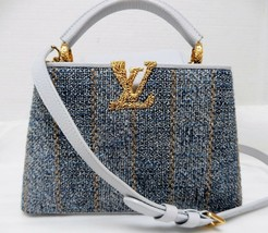 RARE Limited Edition Louis Vuitton Tweed Leather Capucines BB Bag 2019 - $7,998.00