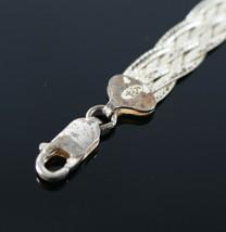 Vintage 925 Sterling Silver Signed FAS 6 Strand Herringbone Tennis Bracelet 6.4g - $22.49