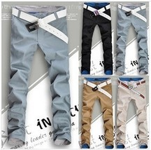 2018 Fashion Classis Good Quality Men's Casual Pants Slim Cotton Long Tr... - $32.64