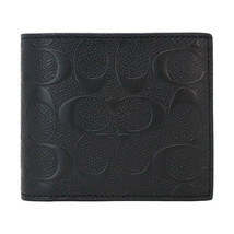 NWT COACH Mens Compact Wallet Bi Fold Insert Signature Leather Bill F753... - $77.22
