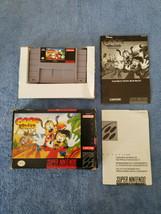 Disney's Goof Troop Super Nintendo SNES Cartridge Box Manual & Inserts 1991 - $45.00