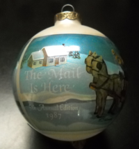 Hummel Glass Ornament 1987 The Mail Is Here 5th Annual Edition Reproduct... - $11.99