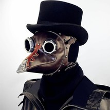 Face Mask Leather Steampunk Plague Bird Plague Doctor Cosplay Prop Gothic  - £49.16 GBP