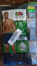 NIP (5 Pack) Hanes Men's Size Small (28-30) Tag Free Black/Gray Boxer Br... - $16.82