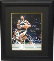 David Robinson signed San Antonio Spurs 16x20 Photo Custom Framed black ... - $198.95