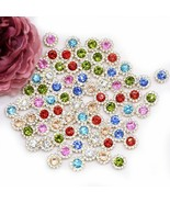 100pcs/lot Claw Cup Rhinestones Sun Flower Colored Shiny Crystals Glass ... - $8.38+