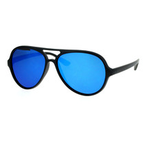 Fashion Aviator Sunglasses Retro Style Unisex Plastic Frame Mirror Lens - $8.95