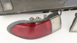 98-99 Nissan Sentra B14 Tail Lights & Center Reflector Panel Carbon Fiber Look image 3