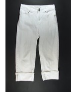 CHICO'S Platinum Size 0 (4)White Stretch Cropped Jeans Capris - $9.99