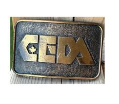 Retro Belt Buckle Men's Brass CEDA Embossed Century Canada - $69.30