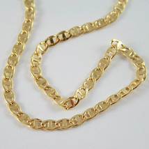 18K GOLD YELLOW CHAIN, SAILORS NAVY MARINER, FINELY WORKED, SHINY, MADE IN ITALY image 2