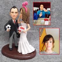 Turui Figurines custom birthday cake topper just married cake topper cla... - $148.00