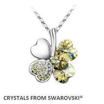 2019 summer style hot sale classic clover necklace with Crystals from Swarovski  image 4