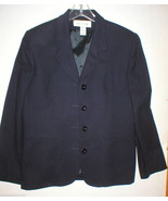 Nice Womens Blazer Jacket Office Jones New York Suit Separates Navy Blue... - $30.00