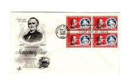 FDC ENVELOPE-HONORING MONTGOMERY BLAIR BL4-1963 ART CRAFT CACHET BK12 - $2.91