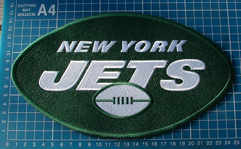 "Primary image for 2019 New York Jets logo NFL 10"" huge Patch Superbowl Football Jersey embroidered"
