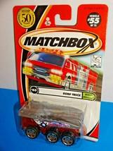 Matchbox 2002 Rescue Rookies Series #55 Dump Truck Red & Silver - $3.00