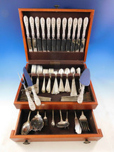 Rose by Stieff Sterling Silver Flatware Set for 12 Service 97 pc Repousse Dinner - $5,795.00