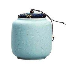 [Blue] Ceramic Tea Canister Coffee Tins Spice Jar Exquisite Tea Caddy - £16.80 GBP