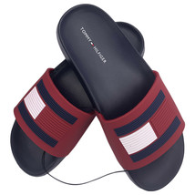 NWT TOMMY HILFIGER AUTHENTIC WOMEN'S NAVY SLIP ON SLIDES SANDALS SIZE 6 ... - $34.99